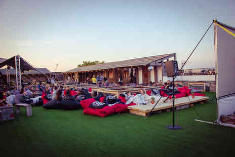 Press Play - Rooftop cinema ticket with We Press Play, Kensington and Fulham Broadway - Save 25%
