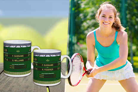 UR in the Paper - Two personalised tennis mugs - Save 38%
