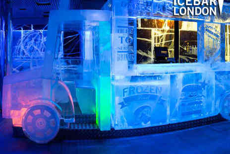 ICEBAR LONDON - ICEBAR Entry for One with a Cocktail, Plus a Three Course Meal and a Cocktail in the Bar or Restaurant - Save 40%