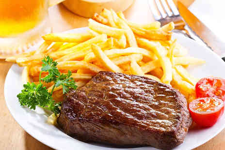 Morenos - Steak Meal with Chips, Accompaniments, Sauce and Wine for Two  - Save 58%