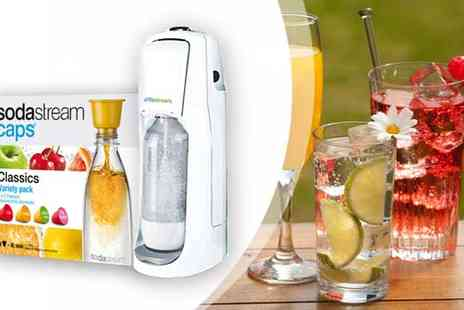 Sodastream Worldwide Trading Company - Sodastream Jet Drinks Maker with 8 Classic Flavour Caps - Save 38%