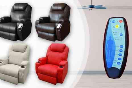 Muneer Contracting - Luxury Leather Reclining Cinema Massage Chair - Save 52%