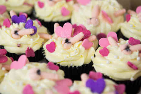Buckleys Bakery - Box of twelve adult cupcakes  with delivery to Zones 1 and 4 - Save 72%
