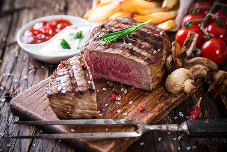 The Clipper - Sirloin steak meal for two including a glass of house wine each  - Save 50%