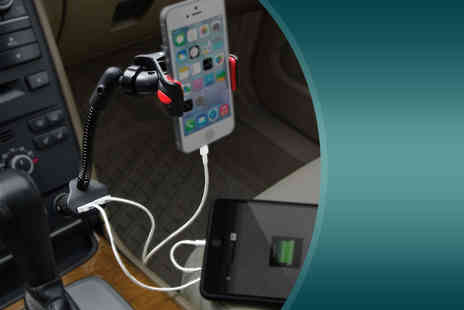 Aven Republic - Dual USB in car phone mount  - Save 78%