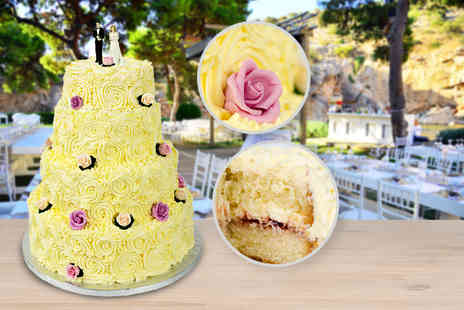 Precise Cakes - Three tier luxury bespoke wedding cake including delivery within the M25 - Save 53%