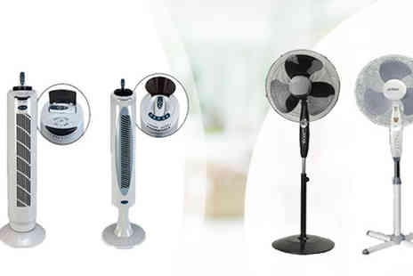 Fishoom  - A Choice of Oscillating & Tower Fans - Save 66%