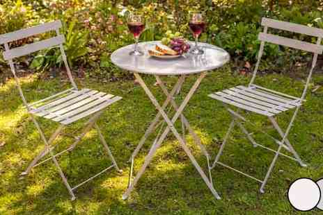Eastland Trading - Two Seater Folding Bistro Garden Furniture Set - Save 50%