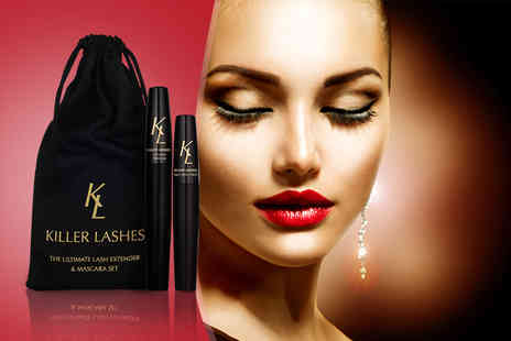 Look Good Feel Fabulous - Mascara and brush on fibre lash extender set - Save 73%