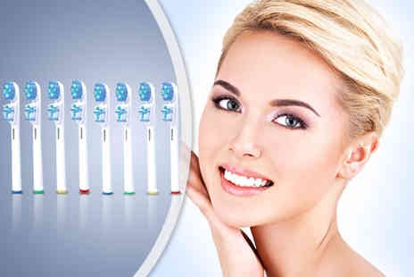 Merchtopia - Eight Oral B compatible Dual Clean electric toothbrush heads - Save 0%