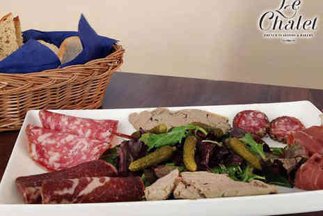 Le Chalet - Choice of Sharing Platter for Two  with a Glass of Wine Each - Save 50%