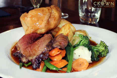 The Crown - Two Course Sunday Lunch for Two  - Save 50%