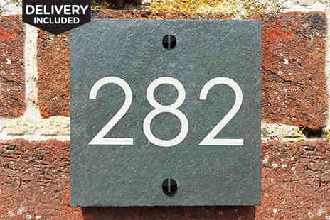 Design A Sign  - Personalised Slate Number Sign, Delivery Incuded - Save 40%