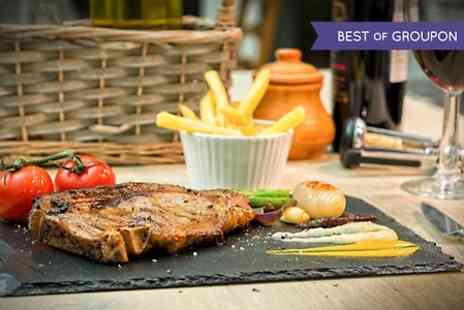La Fuego - Two Course Steak Meal With Sauce and Bottle of House Wine For Two  - Save 52%