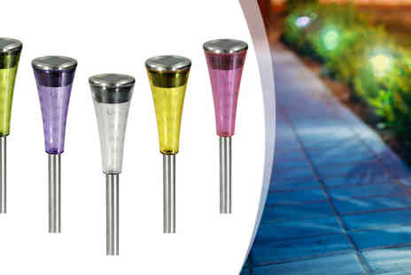 sssuperstore - 10 Stainless Steel Garden Solar Lights - Save 40%
