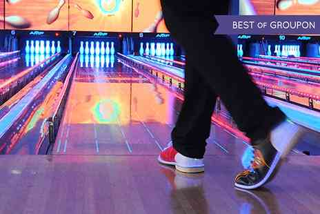 World Of Bowling - One Hour Bowling Session Plus Pizza For Up to Six - Save 59%