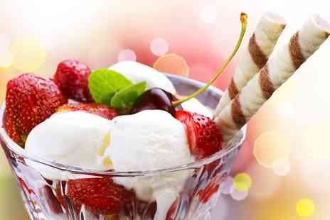Aroma Lounge - Gelato Sundae With Large Soft Drink For One - Save 42%
