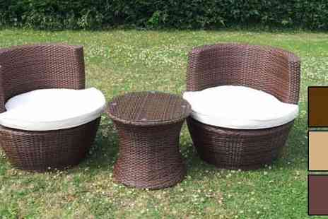 Limited Bisome - Marco Phillippe Stackable Rattan Garden Bistro Set - Save 36%