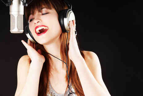 Singing Experience - Two hour solo singer recording studio experience including a cover photoshoot and CD  - Save 90%