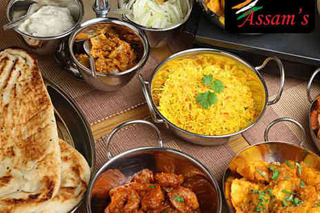 Assam's Indian Restaurant - Six Indian Tapas Dishes for Two with a Glass of Prosecco Each - Save 68%