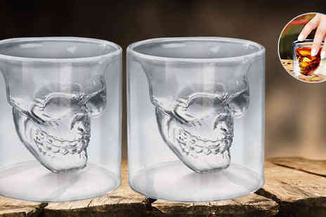 Widgetlove - Two Skull Shot Glasses - Save 78%