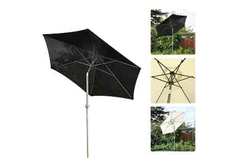SSSuperstore - 2m aluminium lightweight garden umbrella  - Save 50%
