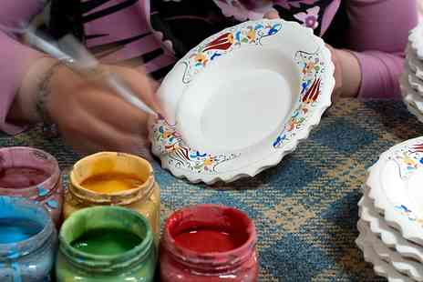 Ceramic Experience - Plate Painting With Refreshments For Two - Save 0%