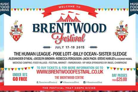 Brentwood Festival - One Day Tickets to Brentwood Festival - Save 24%