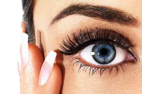 The Sunshine Factory - Half  or Full Set of Flat Cashmere Eyelash Extensions - Save 68%