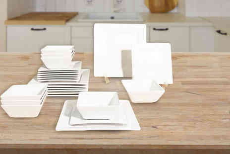 Dinner Warehouse -   24 piece stoneware Soho dinner set   - Save 33%