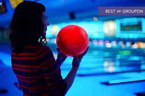 World Of Bowling - One Hour Bowling Session Plus Pizza For Up to Six - Save 57%