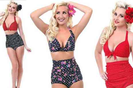 Shine Accessories - Vintage Style Marilyn Bikini Available in 6 Designs - Save 48%