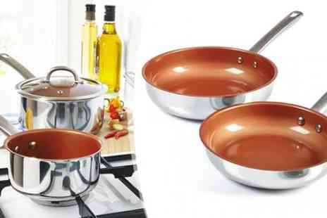 qudos direct - Choice of Stainless Steel and Copper Cookware Sets - Save 57%