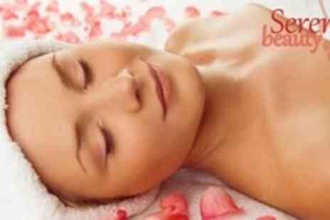 Serenity Beauty - 75 Minute Prescription Facial and Back Massage Plus Manicure or Pedicure - Save 67%