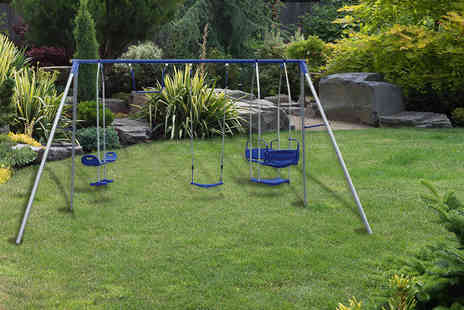 Garden Games   - Four in one outdoor swing set - Save 32%