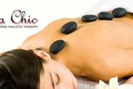 La Chic Hair and Beauty - Hot Stone Massage Plus Facial - Save 59%