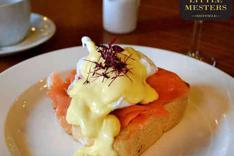 Little Mesters Sheffield - Brunch with Tea or Coffee and Glass of Prosecco Each for Two - Save 52%