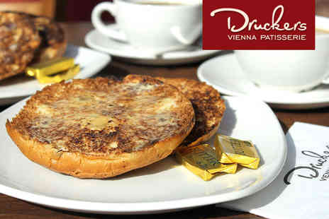 Druckers Vienna Patisserie - Druckers Vienna Patisserie Tea and Teacakes for Two  - Save 47%