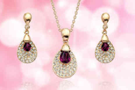 Cocobury - 18K gold plated Austria crystal set  plus delivery - Save 0%
