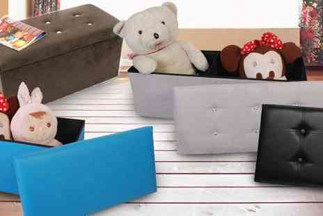 P&N Homewares - Choice of Large or Extra Large Storage Ottoman - Save 75%