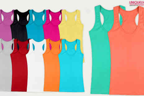 BuyBay BV - 12 Pack of Womens Ribbed Cotton Tank Tops - Save 75%