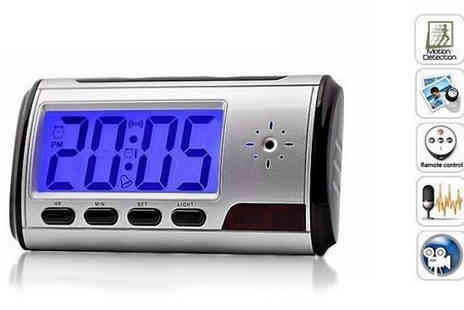 Snippick - DVR Alarm Clock With Hidden Spy Camera - Save 63%