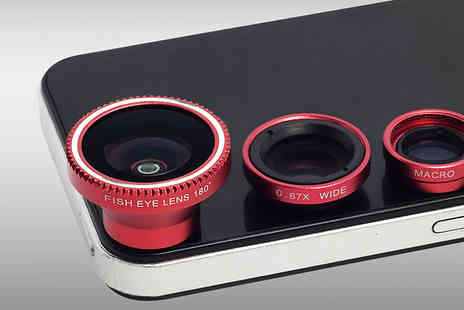 Mobile Heads - 3 in 1 Smartphone Camera Lens Kit - Save 86%