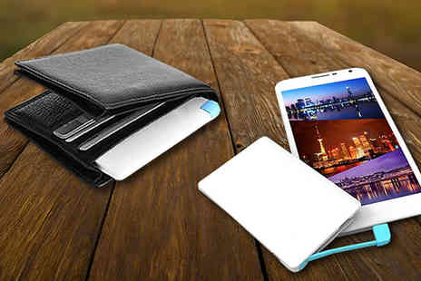 CheekyBox - Credit Card Sized Power Bank for Apple and Android - Save 74%