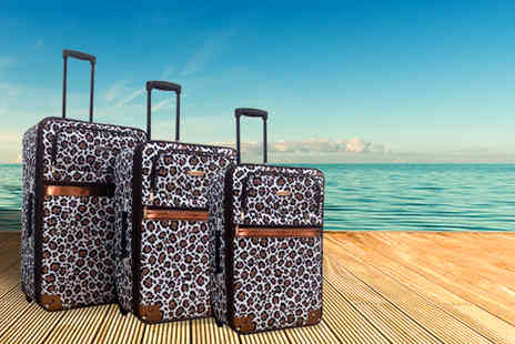 Home Store Direct - Three piece leopard print luggage set  - Save 55%