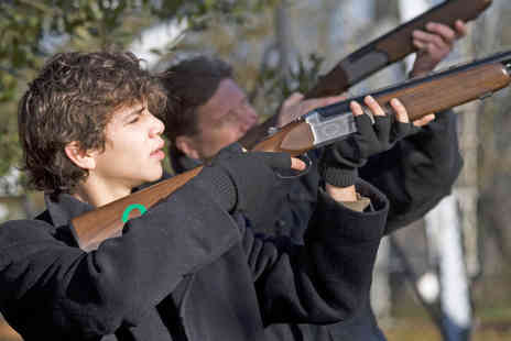 FLE - Aim High with this Fun Laser Clay Shooting Experience - Save 32%