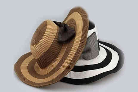 Shapelle - Striped Straw Sun Hat - Save 50%
