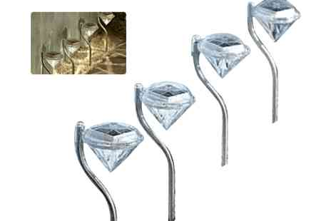 SSSuperstore - 4 x diamond solar lights  - Save 50%