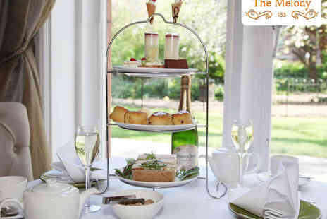 The Melody Restaurant - Champagne Afternoon Tea for Two  - Save 44%