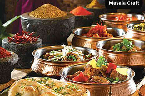 Masala Craft Fine Indian Kitchen - Starter and Main Course Each for Two - Save 52%